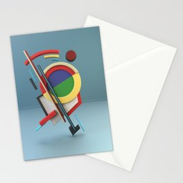 Constructivism & Suprematism in the style of Ivan Kliun (1 of 9) Stationery Cards