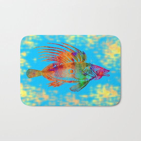 Fish R Bath Mat