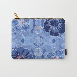Indigo Boho Floral Carry-All Pouch