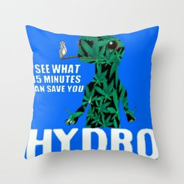 Hydro Gecko what 15 minutes can save Throw Pillow
