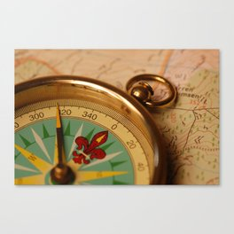 Map and Compass Canvas Print