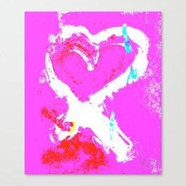 Pink Graffiti Ribbon for Breast Cancer Research by Jeffrey G. Rosenberg Canvas Print