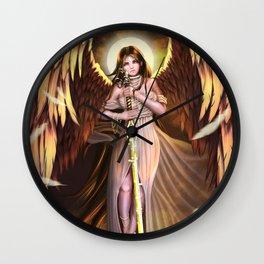 Golden Wings Angel Wall Clock