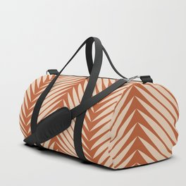 Palm Symmetry - Orange Duffle Bag