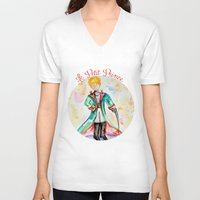 le petit prince V-neck T-shirts featuring The little Prince- Le Petit Prince by Colorful Simone