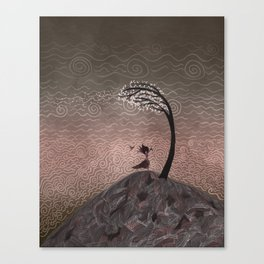 Witch in the Wind Canvas Print