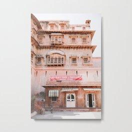 The Pink Junagarh Fort in Bikaner, Rajasthan, India | Travel Photography | Metal Print
