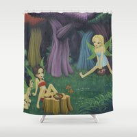 fairies Shower Curtains featuring Weed Fairies by Tem's House