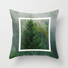 DOWN IN THE FOREST Throw Pillow