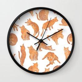 Cat Poses Wall Clock