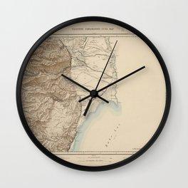 Palestine Exploration Fund Map Wall Clock