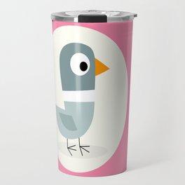 Mr Bird Pink Travel Mug