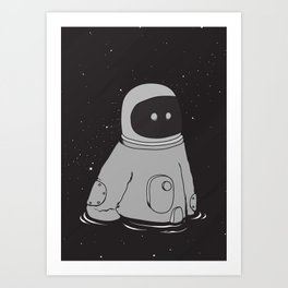 Drowning in cosmo Art Print