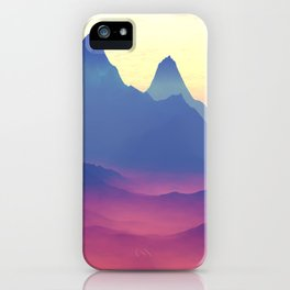 Mountains of Another World iPhone Case
