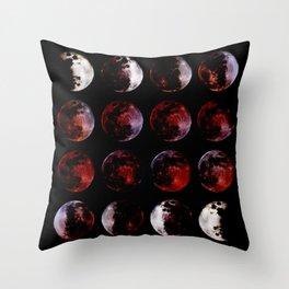 Blood Moon Rising Throw Pillow
