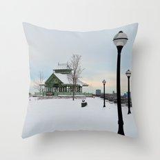 The Kiosk Throw Pillow