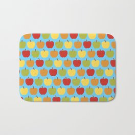 Apples Over Blue Bath Mat