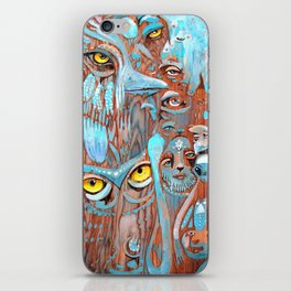 Turquoise Feathers iPhone Skin