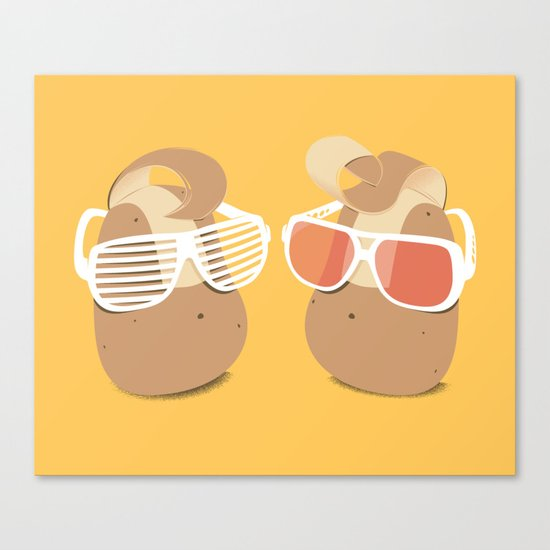 Cool Potatoes Canvas Print