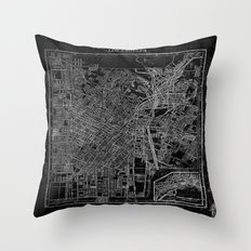 Los Angeles, California, Circa 1908. Throw Pillow