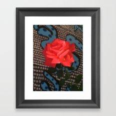 Comic Rose Framed Art Print