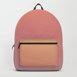SOMETHINGS WRONG - Minimal Plain Soft Mood Color Blend Prints Backpack