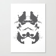 Stormtrooper Rorschach Canvas Print