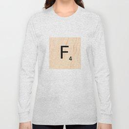 Letter F - Scrabble Art Long Sleeve T-shirt