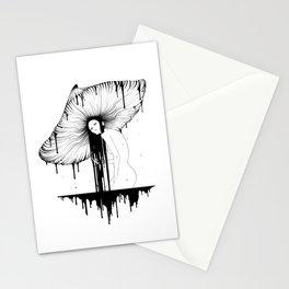 mushroom lady Stationery Cards