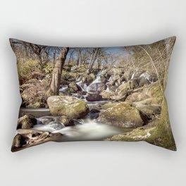 Becky Falls in Spring Rectangular Pillow
