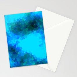 Stained Glass Camo -- Aqua Stationery Cards