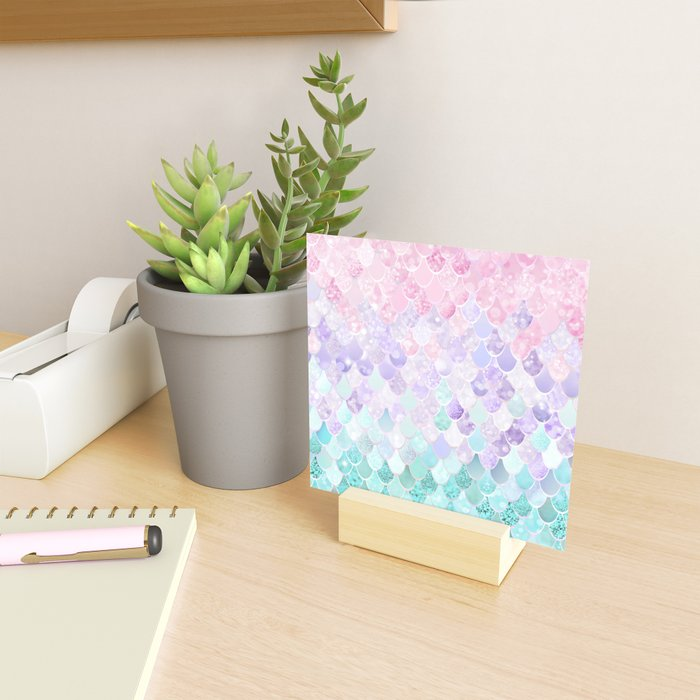 Mermaid Pastel Iridescent Mini Art Print