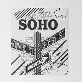 SoHo, New York Throw Blanket