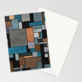 Random Concrete Pattern - Blue, Grey, Brown Stationery Cards