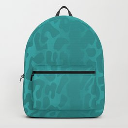 Light Blue Leopard Print Backpack