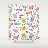 gaming Shower Curtains featuring Gaming by Irene Florentina