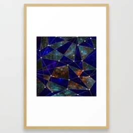 Stars Connections Framed Art Print