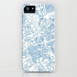 Street MAP Jakarta // Blue iPhone Case