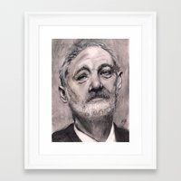 bill murray Framed Art Prints featuring Bill Murray by Joe Humphrey