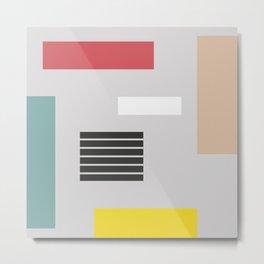 Nordic Geometry I Metal Print