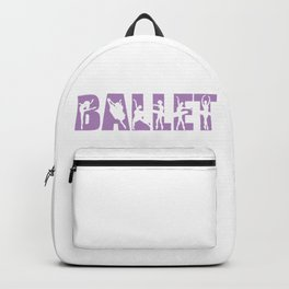 Ballet in Light Purple with Ballerina Cutouts Backpack