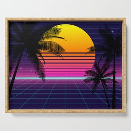 synthwave sunset classic Serving Tray