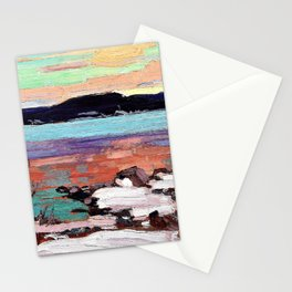 Tom Thomson - Landscape with Snow - Digital Remastered Edition Stationery Cards