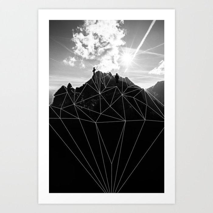 Crystal Mountain II Art Print