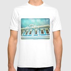 House of Blues White Mens Fitted Tee MEDIUM