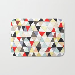 Geometric Pattern Watercolor & Pencil Robayre Bath Mat