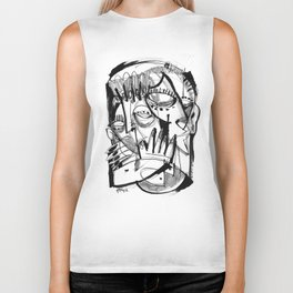Here for Each Other - b&w Biker Tank