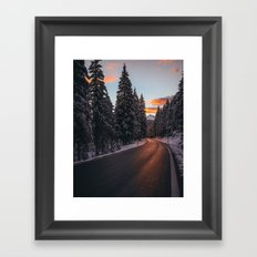 The mountains are calling Framed Art Print