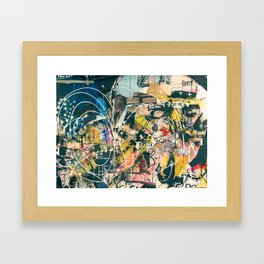 Art Graffiti vintage 4 Framed Art Print