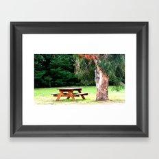 Under the Gum Tree Framed Art Print